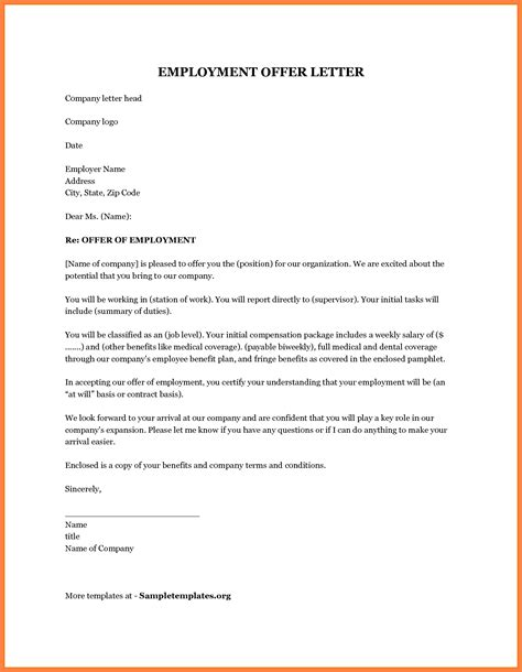 Employment Offer Letter New York new employment offer letter template josh hutcherson