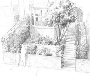 Drawing Of Garden garden drawing pictures viewing gallery