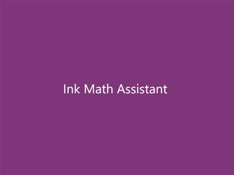graph math equations with ink math assistant in onenote