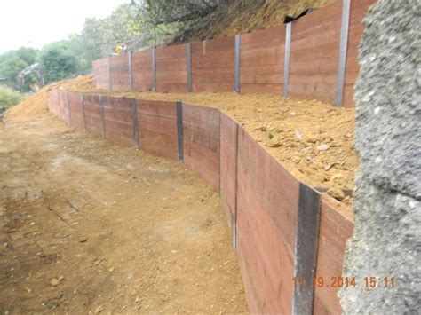 i beam wood retaining wall search landscaping