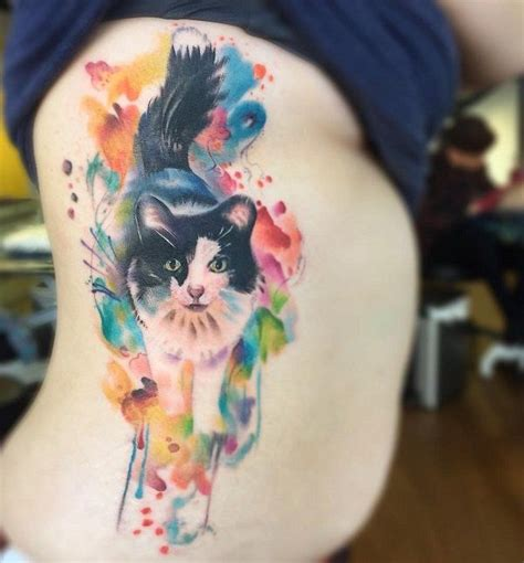 watercolor tattoos cat best 25 watercolor cat ideas on