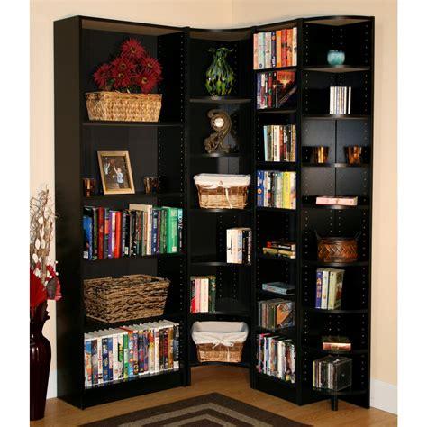 large corner bookcase and basket storage decofurnish