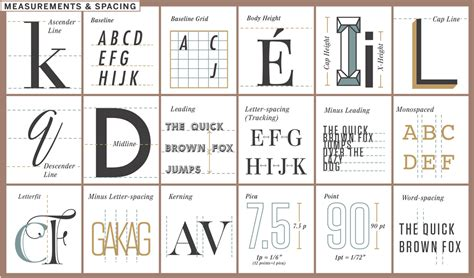 typography chart handy chart helps you understand the elements of