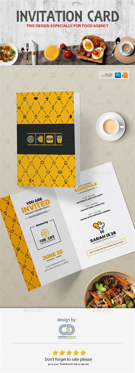 Fast Food Menu Card Templates by Invitation Card Design Template For Fast Food