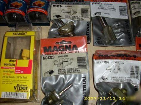 magna makita bosch craftsman oldham router bit lot