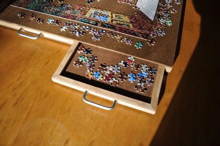 Jigsaw Puzzle Tray With Drawers by 4 Drawer Puzzle Board By Kram79 Lumberjocks