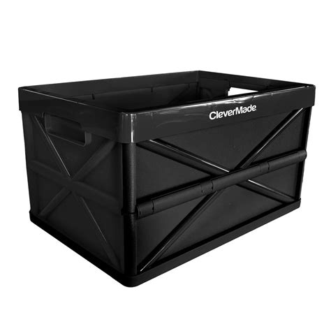 in collapsible storage box clevermade clevercrate hercules 46l 48 6 qt plastic