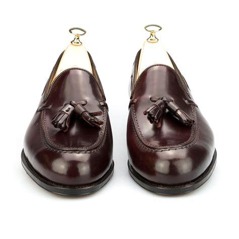 cordovan tassel loafers tassel loafers in burgundy cordovan carmina
