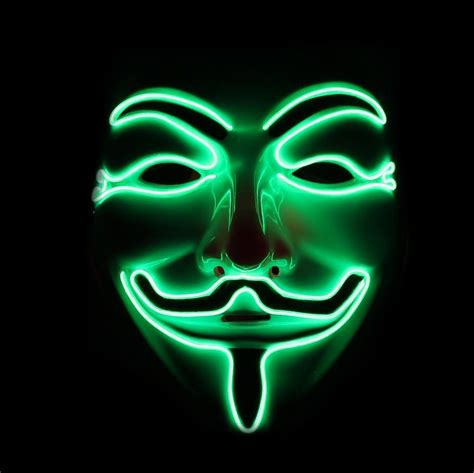 light mask led fawkes mask anonymous light up mask emazinglights