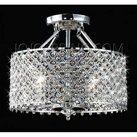 chrome crystal 4 light round ceiling chandelier chrome crystal 4 light round ceiling chandelier