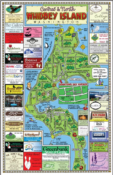 whidbey island map maps usa