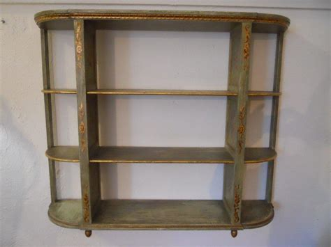 antique handpainted wall shelf at 1stdibs