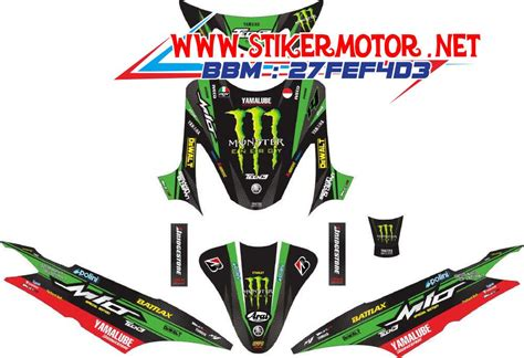 Stiker Variasi Mio Sporty Bulat 2 striping motor mio sporty energy tech 3 hijau