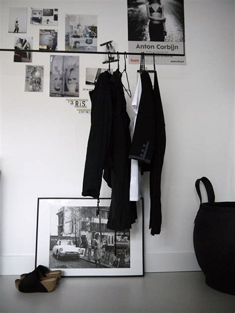 simple and practical clothing racks for casual decors