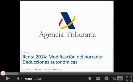 agencia tributaria borrador renta 2014 191 c 243 mo modificar el borrador
