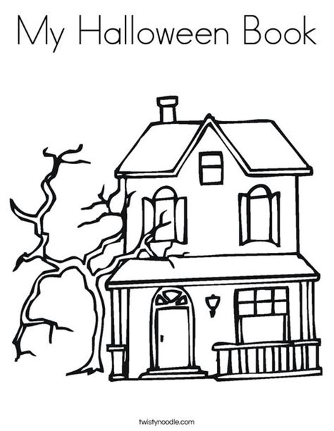 halloween coloring pages castle my halloween book coloring page twisty noodle