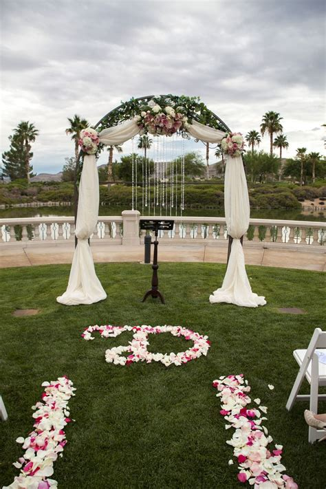 wedding arch las vegas las vegas wedding planner siena golf club draped arch