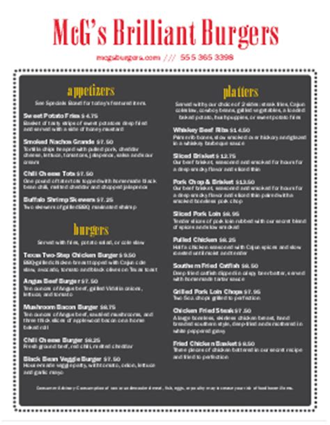 backyard burger menu burger menu burger menu template musthavemenus