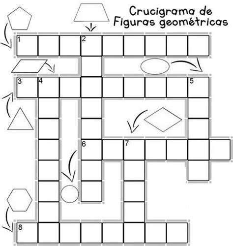figuras geometricas matematica crucigrama de figuras geometricas primaria pinterest