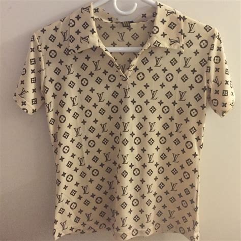 Louis Top Blouse louis vuitton tops womens polo style shirt poshmark