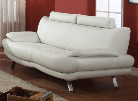 white bonded leather modern sofa w optional chair
