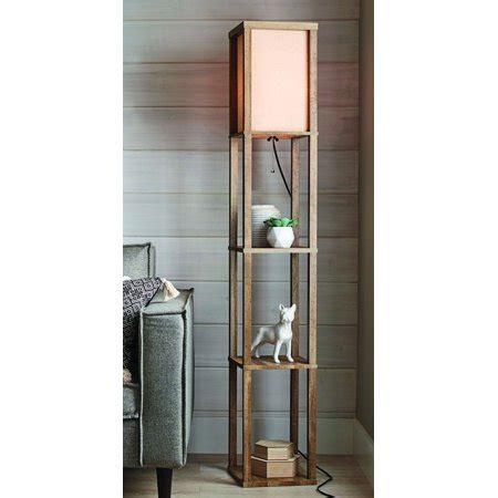 walmart floor ls with shelves better homes and gardens crossmill shelf floor l walmart