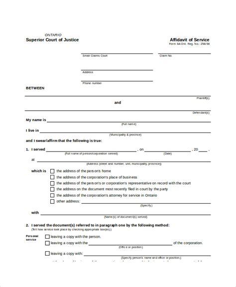 personal affidavit template 40 brilliant affidavit form sles twihot