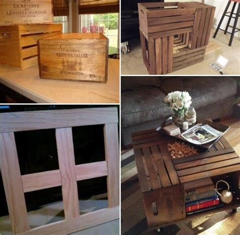 coffee table  wine crates home design