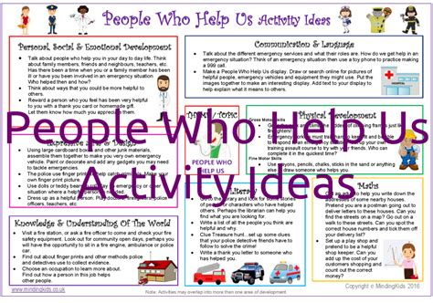 activity ideas who help us activity pack inc activity plans