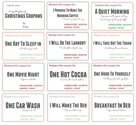 coupon book template for husband free printable coupon book bonus code included
