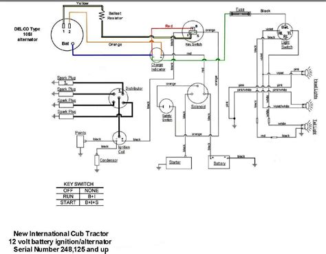 wiring diagram for key start 12 volt alternator conversion