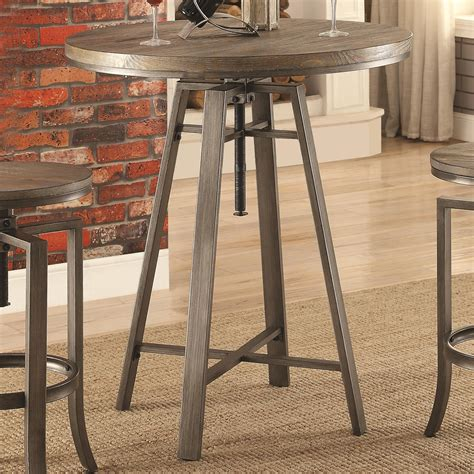 industrial bar height table 10181 industrial bar table with swivel adjustable height