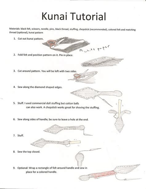 How To Make Paper Kunai - kunai tutorial by koumori no hime on deviantart