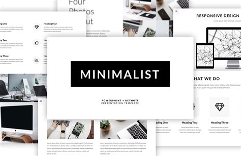 powerpoint layout sles minimalist presentation template medialoot
