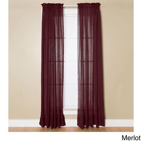 miller curtain miller curtains preston 95 inch rod pocket sheer curtain
