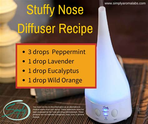 Stuffy Nose Detox by Stuffy Nose Diffuser Recipe Http Simplyaromalabs