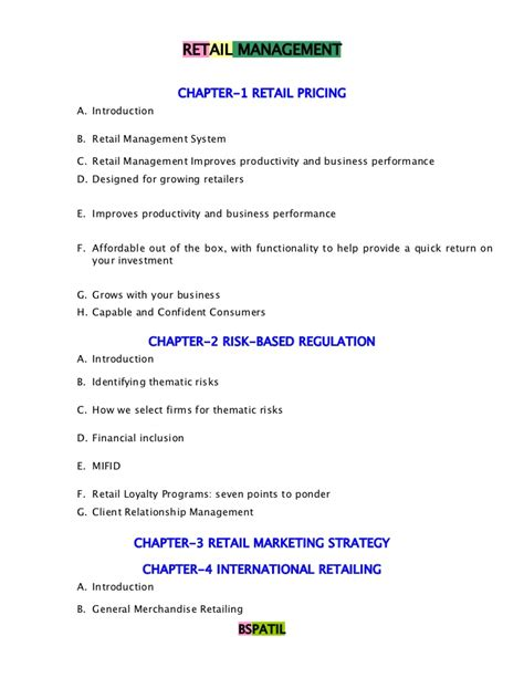 Retail Management Notes For Mba by Retail Management Book Bec Doms Bagalkot Mba