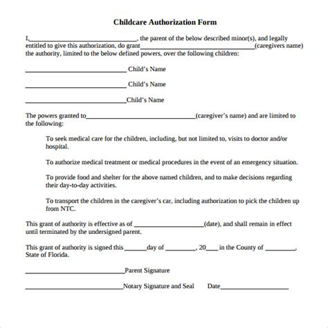 authorization letter for minor authorization letter for child best free