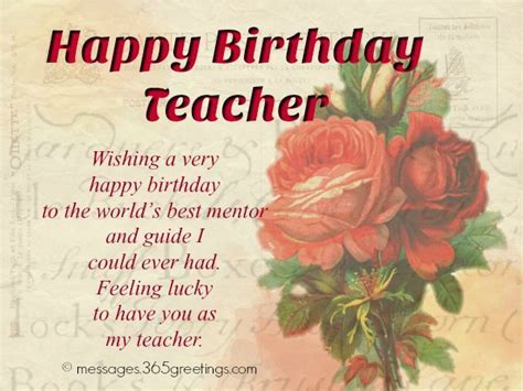Birthday Wishes For Teacher   365greetings.com