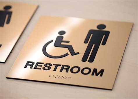 Bathroom Signs For Office Cool Ada Signs Ada Mens Womens Braille Restroom Signs Grade 2 Braille
