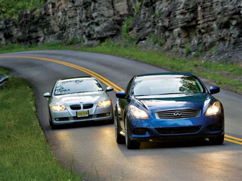 dueling coupes: 2008 bmw 335i vs 2008 infiniti g37s new