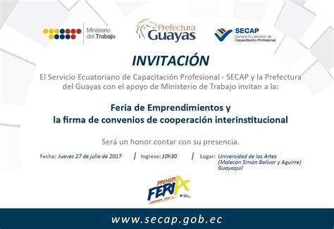 capacitacion para invitacion secap firmar 225 convenios para capacitar a emprendedores