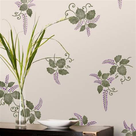 Wall Stencil   Kimono Ferns Stencil   Royal Design Studio