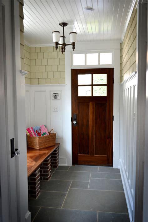 Front Door Flooring Wainscot Tile Decorating Ideas