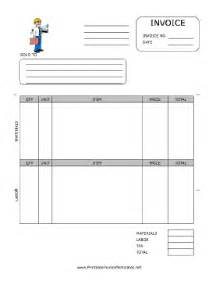 Construction Invoice Template Free Contractor Invoice Template