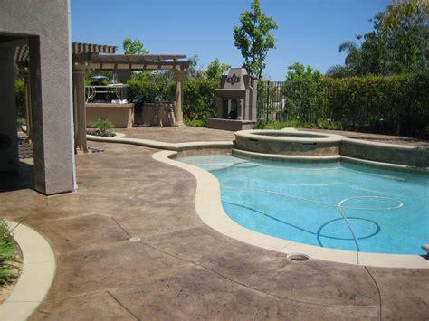 patio color pool patio deck concrete sting staining color