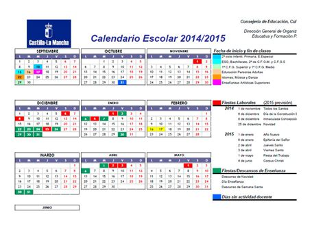 Calendario Escolar Madrid 2014 15 Primaria Calendarios Escolares Calendarios