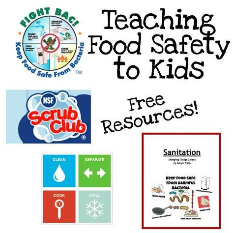 Food Safety Worksheets by Free Printable Book To Teach Food Safety