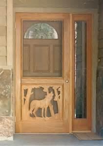 custom collection the wolf screen door