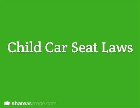 mo car seat laws child car seat laws springfield mo